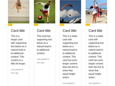 Bootstrap 4 Card Effect