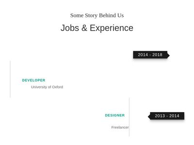 Jobs & Experience Section