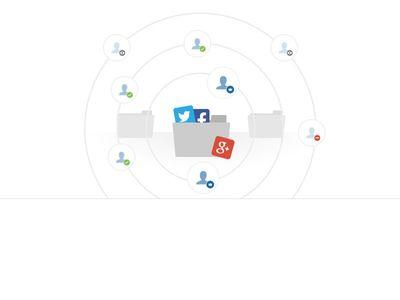 Bootstrap Snippet social media using HTML