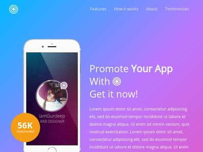 Responsive Mobile App Website Template