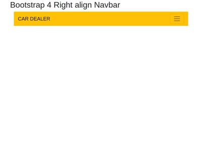Bootstrap Snippet Bootstrap 4 Right align Navbar using HTML CSS