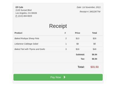 Payment Receipt BS3  Payment Receipt