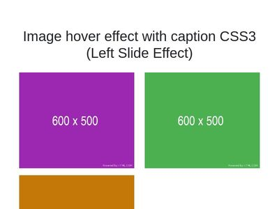 Image hover effect with caption CSS3
