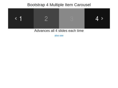 Bootstrap 4 Carousel Multiple Slides