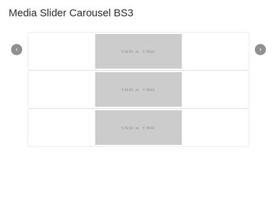 Media Slider Carousel BS3