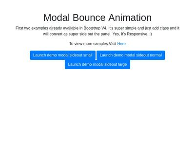Bootstrap V4 Modal Bounce Animation