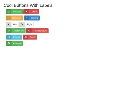 Buttons With Labels