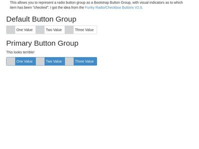 Visual Radio Button Groups