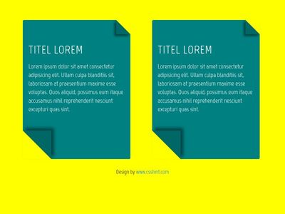 CSS cards with drop-shadow effect