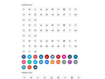 Bootstrap framework snippet Colored Social icons
