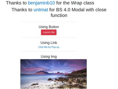 Modal With Blur Effect BS4.0