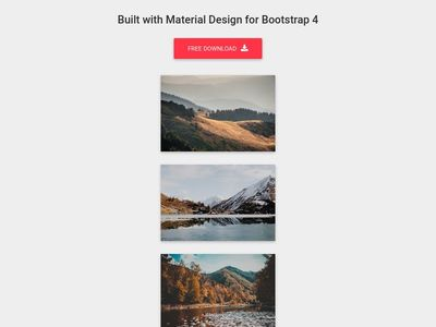 Bootstrap Animations - Material Design & Bootstrap 4
