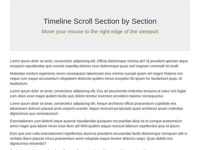 Timeline Scroll Section by Section