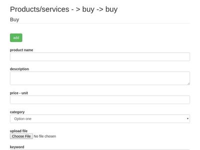Products/services - > buy -> buy