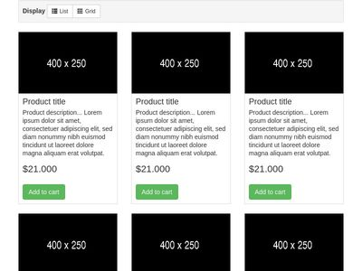 Bootstrap List Grid View