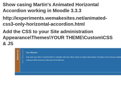 Animated Horizontal Accordion- Moodle 3.3.3 - #286da8 Color Hex