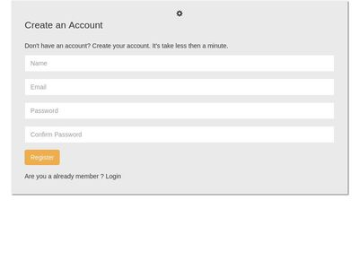 create an account- formbox highlight color code