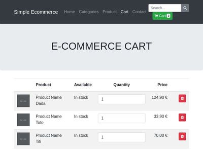 Shopping Cart Ecommerce Template by t-php.fr