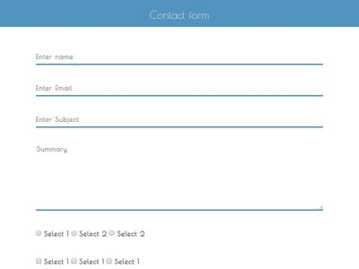 Contact form with header