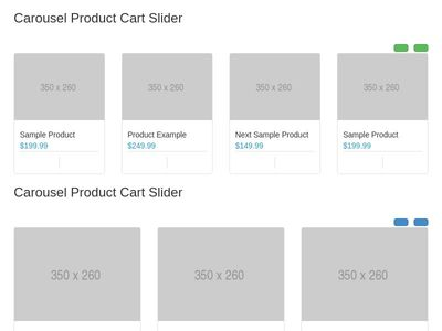 Carousel Product Cart Slider