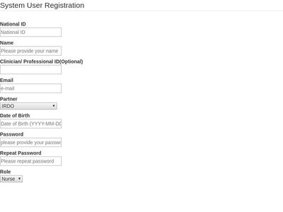 System User Registration