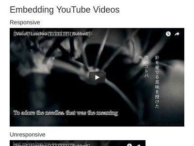 Emedding Responsive YouTube Videos