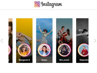 Instagram like user profile cards
