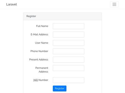 Registration Form with Javascipt Validation