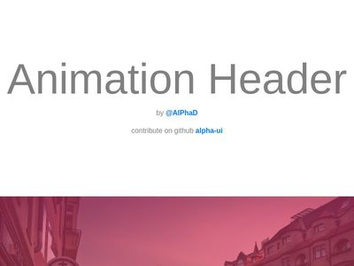Animation Header Sections -  User Interface #User-Interface #ui #animation
