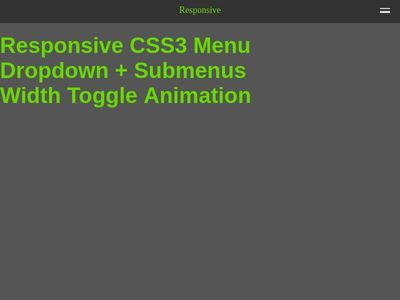 Bootstrap Snippet Responsive CSS3 Menu Dropdown + Submenus Width