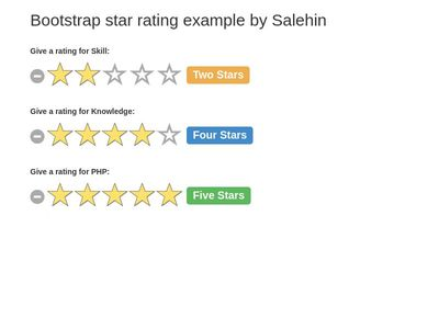 Bootstrap 4 Rating Examples