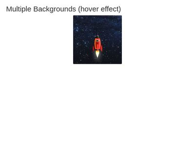 Multiple Backgrounds (hover effect)