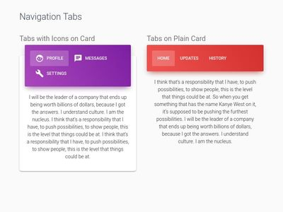 Bootstrap 4 Tabs Examples