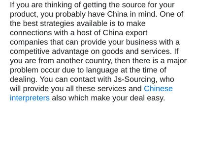 Chinese Interpreters