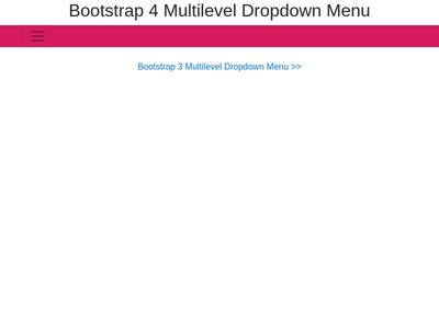 Bootstrap Snippet Bootstrap 4 Multilevel Dropdown Menu using HTML
