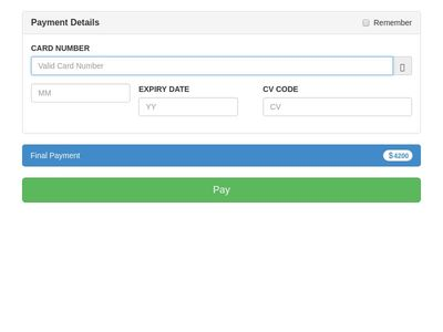 Payment Interface