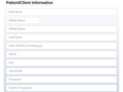 Facebook style signup form