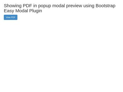 Showing PDF in popup modal preview using Bootstrap Easy Modal Plugin
