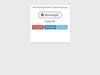 FB MESSENGER With Drag Move blue color