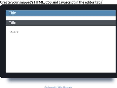 CSS ACCORDIAN SLIDE