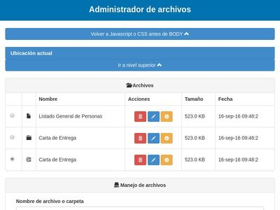 File administration