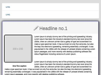 Tab list Panel / Article with HTML5  Tags Jquery Effects