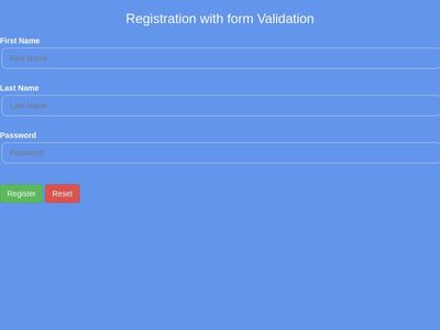Registration with Jquery validation