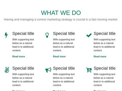 Services section using bootstrap 4