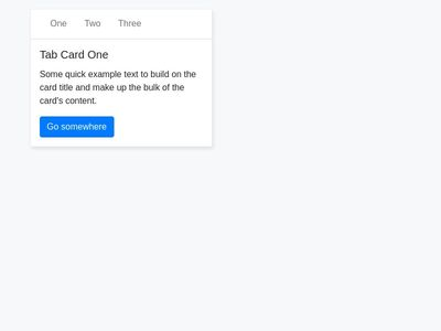 Bootstrap4 Card with Line-Tabs