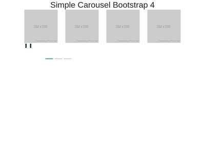 Simple Carousel Bootstrap 4