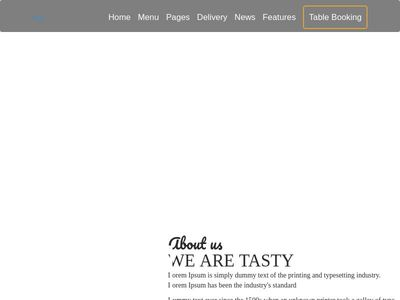 Bootstrap Snippet layout food using HTML CSS Javascript