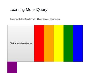 Learning More jQuery