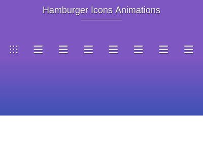 Hamburger Icons Animations