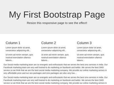 My First Bootstrap Page